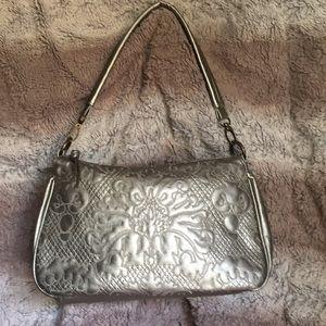 Bueno Front Stitched Handbag Purse Metallic